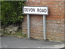 TM0659 : Devon Road sign by Adrian Cable