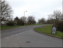 TM0659 : B1115 Stowmarket Road, Stowupland by Adrian Cable