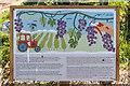 TQ3398 : Information Board, Vineyard, Forty Hall Farm, Enfield by Christine Matthews