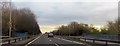 SJ6671 : A556 crossing River Weaver by John Firth
