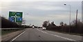 SJ7279 : Approaching junction 19 of M6 from A556 by John Firth