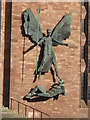 SP3379 : St Michael's Victory over the Devil, Coventry Cathedral by Keith Williams