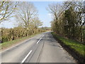 TM2172 : B1117 near Horham Village Name sign by Adrian Cable