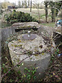 TM1573 : Spigot mortar emplacement off Ludgate Causeway by Adrian Cable