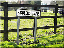 TM1573 : Fiddlers Lane sign by Adrian Cable