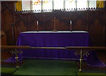 SD3598 : St Michael and All Angels, Hawkshead: altar by Basher Eyre