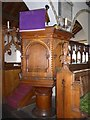 SD3598 : St Michael and All Angels, Hawkshead: pulpit by Basher Eyre