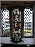 SD3598 : St Michael and All Angels, Hawkshead: stained glass window (VI) by Basher Eyre