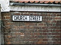TM1473 : Church Street sign by Adrian Cable