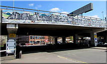 SP3378 : Flyover mural, Coventry city centre by Jaggery