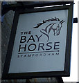 NZ0772 : Sign for the Bay Horse, Stamfordham by JThomas