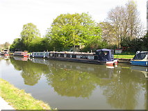 TQ1783 : The Sharp End - narrowboat on Paddington Arm, Grand Union Canal by David Hawgood
