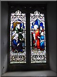 SD3389 : St Paul, Rusland: stained glass window (4) by Basher Eyre