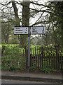 TM1473 : Roadsign on the B1117 Hoxne Road by Adrian Cable