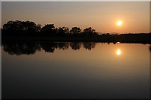SO8843 : Sunset reflected in Croome River by Philip Halling