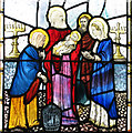 TF8332 : St Mary's church in Syderstone - stained glass by Evelyn Simak
