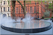 TQ2880 : Water vapour on Silence by Tadao Ando, Mayfair by Free Man
