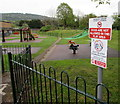 SO5012 : No dogs and no smoking in this play area, Chippenham, Monmouth by Jaggery