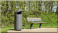 J3675 : Litter bin and seat, Victoria Park, Belfast (April 2015) by Albert Bridge