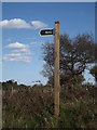 TM3956 : Byway sign off Tunstall Road by Adrian Cable