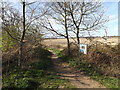 TM3956 : Suffolk Coast footpath at Iken Cliff Picnic site by Adrian Cable