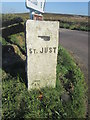 SW4031 : Guide Post - St Just or Pendeen by Adrian Dust