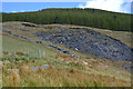 SH7512 : Old slate tip above Waunllefenni by Nigel Brown