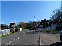 SK6515 : Level crossing at Rearsby by Bikeboy