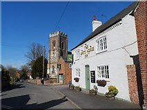 SK6117 : All Saints' church and the White Horse pub, Seagrave by Bikeboy