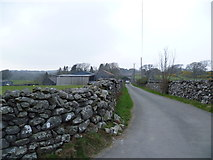 SH6028 : Dry stone walled lanes by Jeremy Bolwell