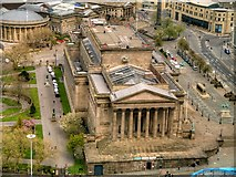SJ3490 : View from St John's Beacon - St George's Hall by David Dixon