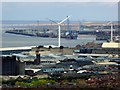 SJ3393 : View Towards the Liverpool Docks at Sandhills and Bootle from St John's Beacon by David Dixon
