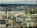 SJ3490 : View from St John's Beacon - Liverpool Waterfront and Birkenhead by David Dixon