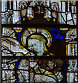 SO7745 : Detail of Window N.1, Great Malvern Priory by Julian P Guffogg