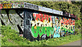 J3470 : Graffiti, Lagan towpath, Stranmillis, Belfast (April 2015) by Albert Bridge