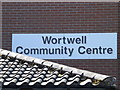 TM2784 : Wortwell Community Centre sign by Geographer