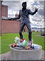 SJ3389 : Billy Fury Sculpture at the Albert Dock by David Dixon