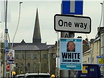 H4572 : Election candidate posters, Omagh (2) by Kenneth  Allen