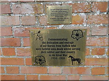 TM2749 : A Memorial to the horses who also served in World War One by Adrian S Pye