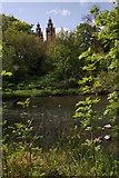 NS5666 : River Kelvin and Kelvingrove Museum by Richard Sutcliffe