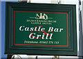 NU2322 : Sign for the Dunstanburgh Castle Hotel, Embleton by JThomas