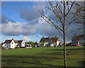 SX3574 : Houses round a green by Des Blenkinsopp