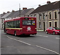 SN6213 : Old-style First bus heads towards Ammanford bus station by Jaggery