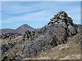 NM6528 : Summit cairn of Glas Bheinn by Trevor Littlewood