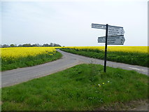 TR2654 : Crossroads near Chillenden Windmill by Marathon