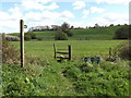 TM3272 : Footpath to the B1117 Laxfield Road by Geographer