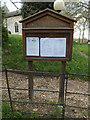 TM3372 : St.Mary's Church Notice Board by Adrian Cable