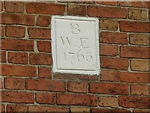 SK6514 : Date stone, 2 Brook Street, Rearsby by Alan Murray-Rust