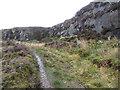 SE7195 : Disused ironstone quarry above Hobb Crag by Pauline E