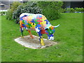 TQ4850 : CowParade cow at Henden Manor Farm by Marathon